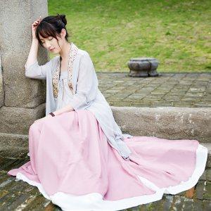 守清风-2017春秋新款改良对襟日常汉服套装中国风女装三件套