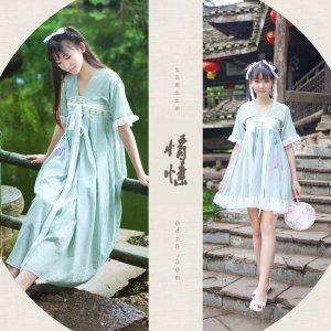 改良版汉服古装服装日常传统仙女装齐胸襦裙公主唐装演出服中国风