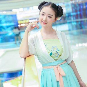 华小夏花葶重回汉唐汉元素女装日常绣花改良汉服民族风短裙夏装