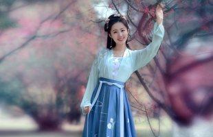 如梦霓裳汉服女装对襟襦裙[月照梨花]七定制传统刺绣绣花夏季日常