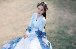 如梦霓裳汉服女装襦裙[蝶恋花]一绣花蝴蝶传统定制夏季浅交领对襟