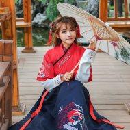 汉风华裳秋冬季汉服女青丘小狐狸日常襦裙中国风古代衣服COS套装