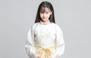 日常秋冬改良明代制圆领汉服套装女古风连衣裙子汉元素写真