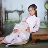 重回汉唐新版中衣原创品牌日常汉服男女同款纯棉居家服禅修练功服