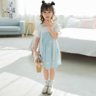 灵锦集儿童汉服女小孩中国风 改良公主儿童夏季齐胸连衣裙 云杪