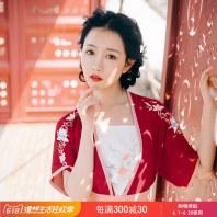 重回汉唐千枝吊带传统绣花原创设计汉服女款中国风周边配饰春夏装