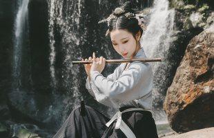 重回汉唐原创汉服女装蓬莱传统日常非古装中国风仙女对襟襦裙夏季