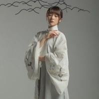 【琼宫】徐娇织羽集 原创改良汉服元素 女刺绣竖领对襟衫三件套