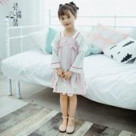 灵锦集汉服童装女童 日常汉元素改良女孩公主儿童秋季连衣裙 胧月
