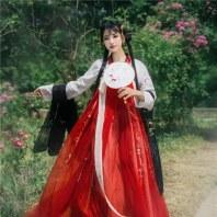 【琼华梦】国色芳华原创独家绣花披帛汉服搭配百搭齐胸对襟襦裙