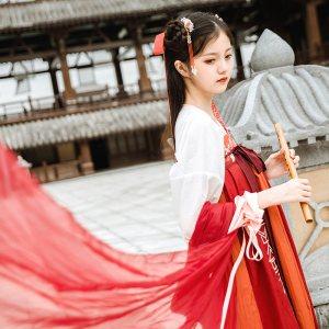鹿韵记X仙剑三合作款红葵改良汉服女装刺绣齐胸襦裙汉元素秋