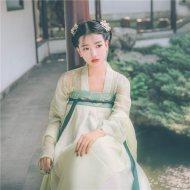 【碧落】国色芳华传统汉服女齐胸对襟襦裙春夏款绣花日常小清新