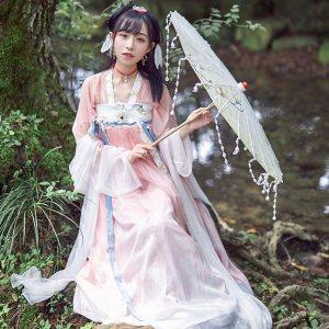 【十三余 小豆蔻儿】[白羽] 对襟齐胸襦裙系带刺绣两片式下裙汉服