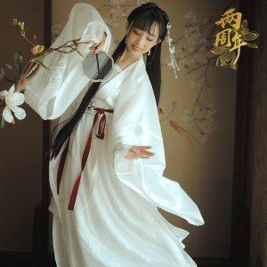 【十三余 小豆蔻儿】[念奴娇] 对襟齐腰绣花上衫一片式褶裙汉服女