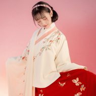 重回汉唐原创设计中国传统绣花汉服女明制袄裙秋怡冬季日常非古装