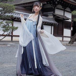 【十三余 小豆蔻儿】[长恨歌] 大袖薄衫对襟衫刺绣齐胸衫裙汉服女