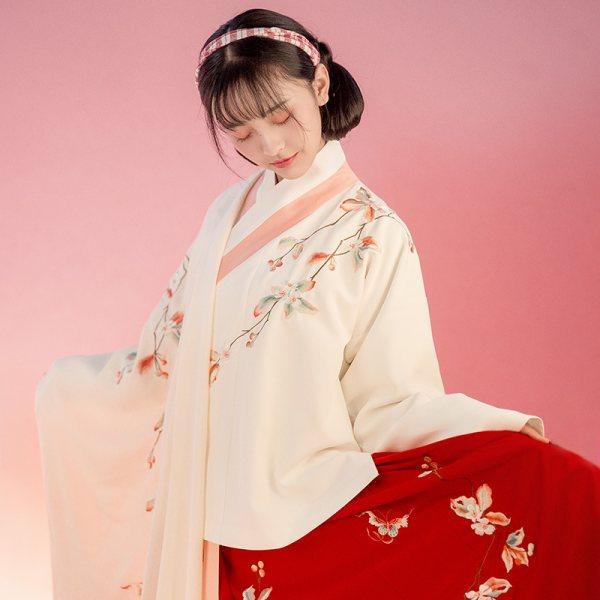 重回汉唐秋怡原创正品中国风传统汉服女明制交领袄裙春季非古装