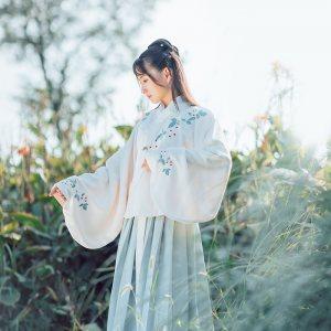 绛珠 花朝记汉服原创红楼系列上袄刺绣 日常袄裙中国风春款女装