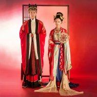 重回汉唐 长相守 婚嫁男女唐制婚服中式时代婚礼礼服刺绣套装定制