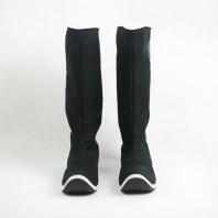 【流烟昔泠-绣花皂靴】传统汉服配饰靴子千层底手工绣花刺绣皂靴