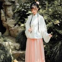 【十三余 小豆蔻儿】[醉花间]绣花交领短袄一片式褶裙汉服刺绣女