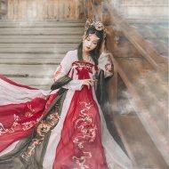 汉尚华莲龙母店庆传统汉服女夏齐胸襦裙外层8米大摆龙纹重工刺绣