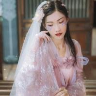汉尚华莲十周年店庆款花嫁系类传统汉服女高腰齐胸襦裙大袖衫日常