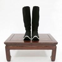 【流烟昔泠-皂靴】传统原创汉服配饰靴子千层底手工制作汉服皂靴