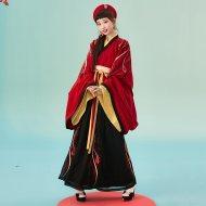 【十三余 小豆蔻儿】[荆卿]广袖交领齐腰襦裙汉服婚服一片式下裙