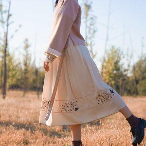 徐娇织羽集[惊鹊]连衣裙原创汉元素服饰冬季新品时尚复古裙子女装