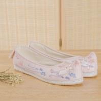 汉尚华莲传统汉服女鞋复古搭配饰弓鞋千层底日常搭配绣花鞋