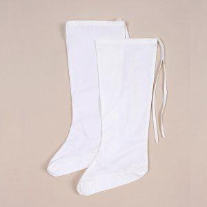 重回汉唐汉服原创品牌实体店汉服配饰配件袜子白色云袜