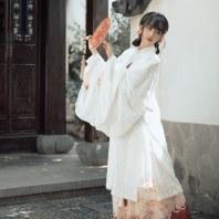 【十三余 小豆蔻儿】[蓬莱] 大袖披风交领短袄一片式围裳褶裙汉服