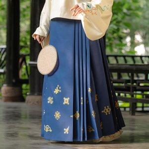 重回汉唐汉服女装祥瑞原创传统中国风明制齐腰马面裙日常非古装