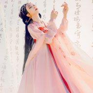 重回汉唐萦妆汉服女原创中国风春装日常对襟齐胸襦裙套装非 古装