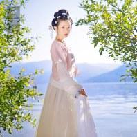 芥子记春来早原创传统汉服女坦领半臂刺绣上襦齐腰襦裙下裙春夏装