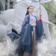 山有扶苏 原创九歌传统汉服女大袖衫日常齐腰襦裙中性款绣花套装