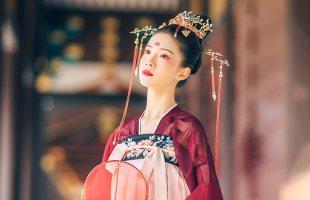 汉尚华莲长孙皇后传统汉服女装齐胸高腰襦裙仙鹤刺绣日常气质春款