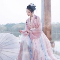 重回汉唐婉妆汉服女中国风原创正品6米大摆齐腰襦裙对襟褙子春夏