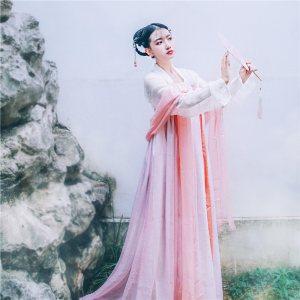 【绯棠】梨花渡原创汉服女 齐胸对襟襦裙日常春夏套装