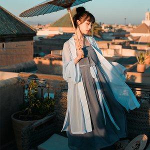 【十三余 小豆蔻儿】[如是]系带长款传统女装华服吊带汉服连衣裙