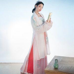重回汉唐原创免费抢红包最快的软件女装夏沫日常中国风长褙子改良宋裤夏季非 古装
