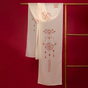 重回汉唐萦妆春夏季披帛免费抢红包最快的软件女周边配饰绣花饰品披肩外搭中国风