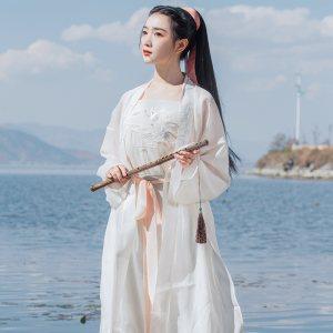 重回汉唐玉枕纱正品原创免费抢红包最快的软件女夏装对襟长褙子宋制宋裤套装中国风