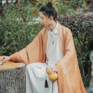 重回汉唐风入松免费抢红包最快的软件男款中国风长褙子外套百迭裙交领长衫套装夏季