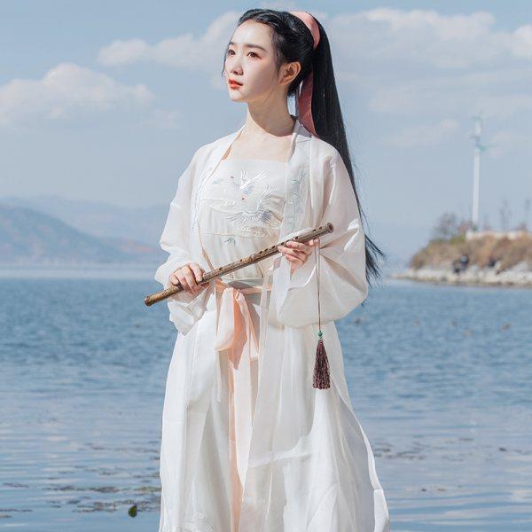 重回汉唐玉枕纱正品原创汉服女夏装对襟长褙子宋制宋裤套装中国风