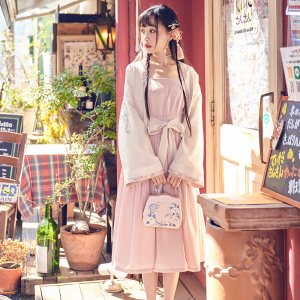【十三余 小豆蔻儿】[迟迟]刺绣对襟短褙子外套汉元素绣花女装