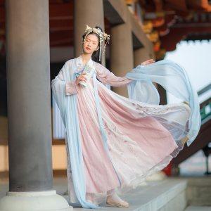 汉尚华莲锦宫传统汉服女高腰刺绣齐胸襦裙6米大摆日常显瘦装现货