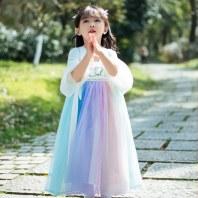 溪花记女童汉服中国风儿童夏季姐妹装连衣裙改良童装复古唐装襦裙