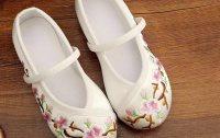 溪花记女童布鞋手工帆布鞋中国风绣花鞋演出鞋绣花鞋公主鞋童鞋